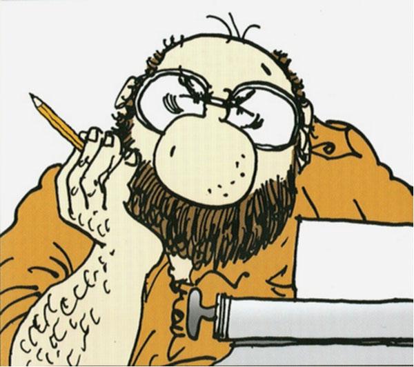 Bobo (Eco), en el cómic de Staino.