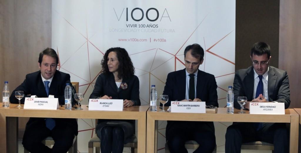 """Acto de presentación de los doce proyectos para """"Vivir 100 años"""". EFE/ICEX"""