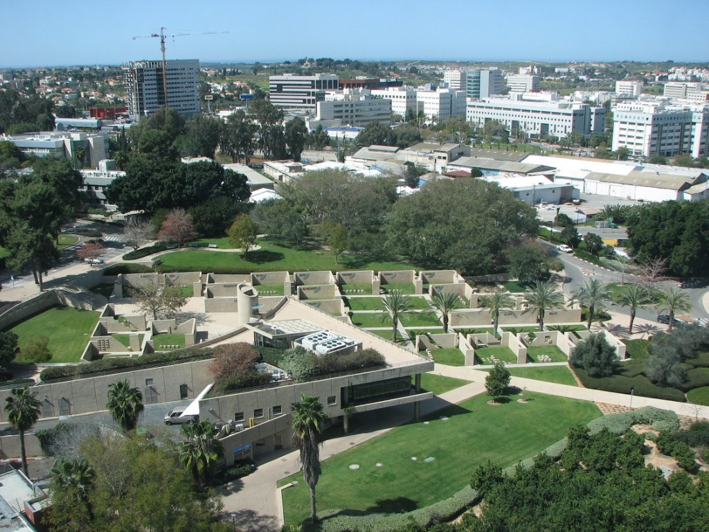 Vista aérea del campus del Instituto Weizmann