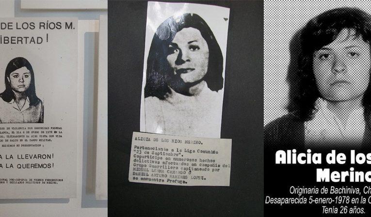 Alicia de los Ríos Merino, a 42 años de su desaparición forzada por policías mexicanos